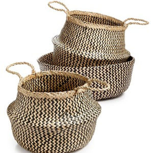 Home Essentials Congo Baskets, Set Of 3